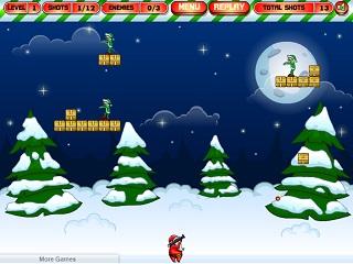 산타 vs 엘프 좀비