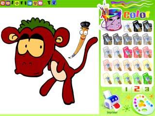 원숭이 색칠게임