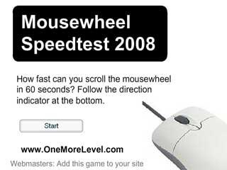마우스휠 스피드 테스트