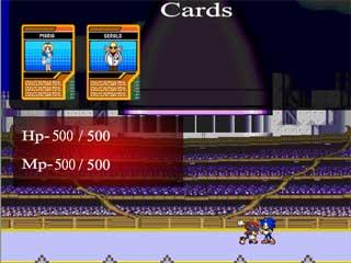 소닉 카드배틀 게임(테스트런)