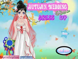 가을 웨딩 걸 드레스업