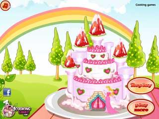 프린세스 캐슬 케이크 2