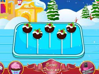크리스마스 푸딩 케이크 팝스