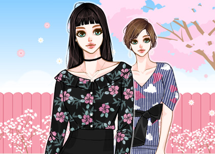 봄빛 가득 스타일링, 플라워을 사랑한 패션
