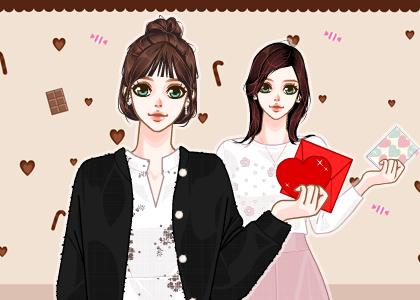발렌타인 데이와 어울리는 산뜻한 여친룩